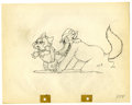 "Original Comic Art:Miscellaneous, Walt Disney Studios - ""The Big Bad Wolf"" Animation ProductionDrawing Original Art (Disney, 1934). The sly and treacherous W..."