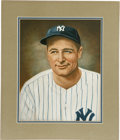 Baseball Collectibles:Others, Lou Gehrig Original Painting from the Helmar Brewing Company.Hailed as one of the finest specialty microbreweries, the Hel...