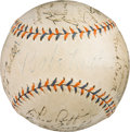 Baseball Collectibles:Balls, 1934 New York Yankees Team Signed Baseball. ...