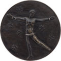 Olympic Collectibles:Autographs, 1952 St. Moritz Winter Olympics Bronze Medal. ...