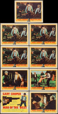 """Movie Posters:Western, Man of the West (United Artists, 1958). Title Lobby Card and Lobby Cards (8) (11"""" X 14""""). Western.. ... (Total: 9 Items)"""