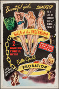 "Movie Posters:Exploitation, Girls of the Underworld/Probation Combo (Willis Kent Productions,1940). One Sheet (27"" X 41""). Exploitation.. ..."