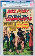 Silver Age (1956-1969):War, Sgt. Fury and His Howling Commandos #5 (Marvel, 1964) CGC FN/VF 7.0 Off-white to white pages....