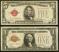 Small Size:Legal Tender Notes, Fr. 1500 $1 1928 Legal Tender Note. Fine;. Fr. 1531 $5 1928F Wide ILegal Tender Note. Fine.. ... (Total: 2 notes)