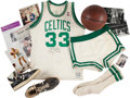Basketball Collectibles:Uniforms, 1986-87 Larry Bird Game Worn Boston Celtics Uniform....