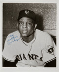 Baseball Collectibles:Photos, 1951 Willie Mays Period-Signed Original Photograph Used for 1952Berk Ross Card, PSA/DNA Type 1. ...
