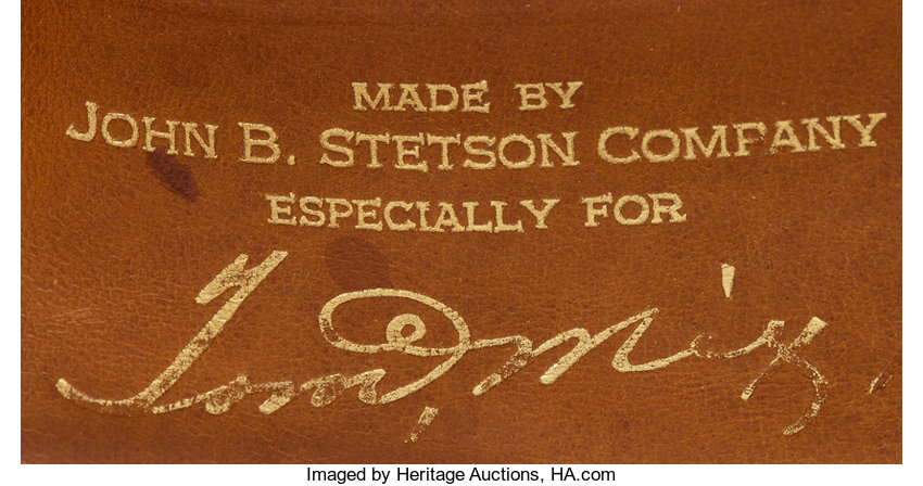 caf023ac52a0a A Tom Mix Personalized Ten-Gallon Stetson Hat.... Movie TV