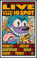 Music Memorabilia:Posters, MTV Live from the 10 Spot Poster by Frank Kozik....