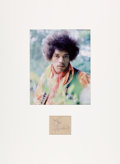 Music Memorabilia:Autographs and Signed Items, Jimi Hendrix Signature With Photo....