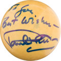 Movie/TV Memorabilia:Autographs and Signed Items, A Paul Newman Signed Cue Ball....