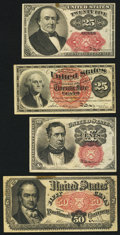 Fractional Currency:Fifth Issue, A Quartet of Fractional Notes.. ... (Total: 4 notes)