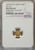 California Fractional Gold , 1869 50C Liberty Round 50 Cents, BG-1021, High R.6, MS60 DetailsNGC. NGC Census: (0/1). PCGS Population (2/7). ...