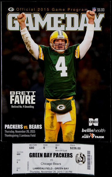 664d30e0f8e ... Football Collectibles:Programs, 2015 Green Bay Packers Vs. Chicago  Bears Thanksgiving Day Programand ...