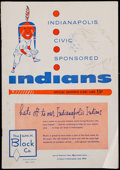 Autographs:Others, 1956 Roger Maris Signed Indianapolis Indians Minor LeagueProgram....