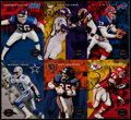 Football Cards:Singles (1970-Now), Signed Derrick Thomas & Chris Doleman 1993 Sky Box UncutPanel....