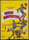 Basketball Collectibles:Programs, 1958-59 Harlem Globetrotters (Featuring Wilt Chamberlain) Program -With Original Roster Sheet Included. ...