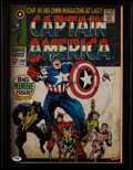 "Miscellaneous Collectibles:General, Stan Lee Signed ""Captain America"" Canvas Print...."