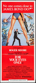 "Movie Posters:James Bond, For Your Eyes Only (United Artists, 1981). Australian Post-WarDaybill (13"" X 29.75""). James Bond.. ..."