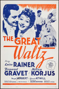 "Movie Posters:Drama, The Great Waltz (MGM, R-1962). One Sheet (27"" X 41""), Lobby Card Set of 8 (11"" X 14""), Photos (10) (8"" X 10""), Uncut Pressbo... (Total: 21 Items)"