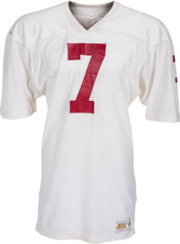 1981 John Elway Game Worn Stanford Cardinal Jersey with Multiple Team Repairs (John Kindler Collection), MEARS A10