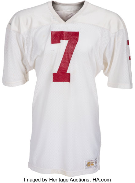 finest selection 182ca 1cf55 1981 John Elway Game Worn Stanford Cardinal Jersey with ...