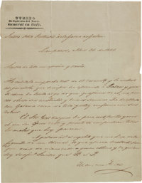 Mariano Arista Letter Signed