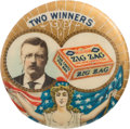 """Political:Pinback Buttons (1896-present), Theodore Roosevelt: Zig Zag Candy """"Clicker."""" ..."""