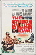 "Movie Posters:War, The Bridge on the River Kwai (Columbia, R-1963). One Sheet (27"" X41"") & Uncut Pressbook (14 Pages, 11"" X 17""). War.. ... (Total:2 Items)"
