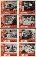 "Movie Posters:Crime, The Killers (Universal, 1964). Lobby Card Set of 8 (11"" X 14""). Crime.. ... (Total: 8 Items)"