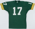 Football Collectibles:Uniforms, 1977-78 David Whitehurst Game Worn Green Bay Packers Jersey....