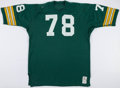 Football Collectibles:Uniforms, 1977-78 Ezra Johnson Game Worn Green Bay Packers Jersey....