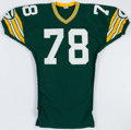 Football Collectibles:Uniforms, Gary Hoffman Game Issued Green Bay Packers Jersey....