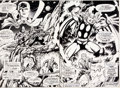 Original Comic Art:Splash Pages, Rick Hoberg and Dave Hunt What if? #10 Double Page SpreadOriginal Art (Marvel, 1978)....