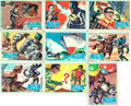 "Miscellaneous:Trading Cards, [Trading Cards, Batman]. Group of Nine Topps ""Blue Bat"" BatmanCards. National Periodical Publications, 1966...."