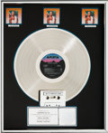 Music Memorabilia:Awards, Whitney Houston Whitney Houston RIAA (3x) Platinum RecordAward (Arista AL 8-8212, 1985)....