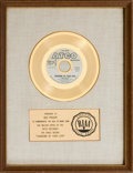 "Music Memorabilia:Awards, Cream ""Sunshine of Your Love"" RIAA Gold Record Award (Atco 45-6544,1967)...."