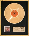 Music Memorabilia:Awards, REO Speedwagon Live - You Get What You Play For RIAA GoldRecord Award (Epic PEG 34494, 1977). ...