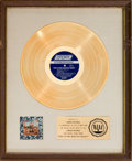 Music Memorabilia:Awards, Rolling Stones Their Satanic Majesties Request RIAA White Matte Gold Record Award (London NPS-2, 1967)....
