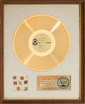 Music Memorabilia:Awards, Cream Best of Cream RIAA White Matte Gold Record Award (AtcoSD 33-291, 1969)....