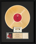 Music Memorabilia:Awards, Doors Greatest Hits RIAA Gold Record Award (Elektra 5E 515,1980)....