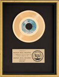 "Music Memorabilia:Awards, Fleetwood Mac ""Dreams"" RIAA Gold Record Award (WBS 8371, 1977)...."