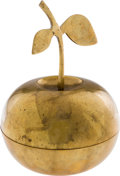 Music Memorabilia:Memorabilia, Beatles - Brass Apple Promotional Paperweight. ...
