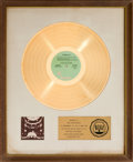 Music Memorabilia:Awards, Jethro Tull A Passion Play RIAA Gold Record Award (ChrysalisCHR 1040, 1973)....