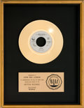 "Music Memorabilia:Awards, Beatles - John Lennon ""Woman"" RIAA Gold Record Award (GeffenGEF49644, 1981)...."