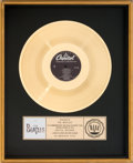 Music Memorabilia:Awards, Beatles 20 Greatest Hits RIAA Gold Record Award (CapitolSV-12245, 1982)....