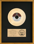 "Music Memorabilia:Awards, Doors ""Hello, I Love You"" RIAA Gold Record Award (Elektra EK-45635,1968)...."