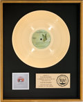 Music Memorabilia:Awards, Queen A Night at the Opera RIAA Gold Record Award (Elektra7E-1053, 1975)....