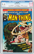 Bronze Age (1970-1979):Science Fiction, Fear #19 (Marvel, 1973) CGC NM 9.4 Off-white to white pages....