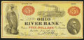 Obsoletes By State:Ohio, Marietta, OH-Ohio River Bank $5 June 15, 1838. ...