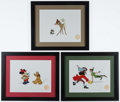 Miscellaneous Collectibles:General, Peter Pan, Mickey Mouse and Bambi Walt Disney Serigraphs (2). ...